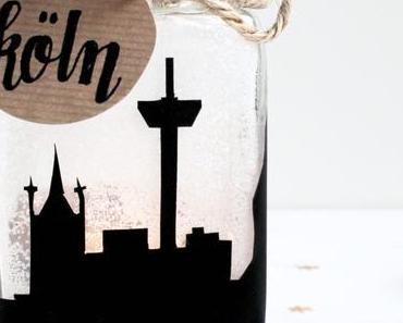 DIY Skyline Teelichtglas + hallo Winterzeit