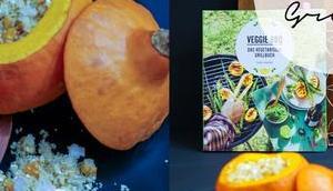 #foodinspo Couscous Filled Pumpkin with Feta, Cashews dried Apricots {Veggie BBQ}