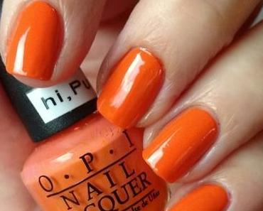 [Nails] Lacke in Farbe ... und bunt! ORANGE mit O.P.I hi, Pumpkin!