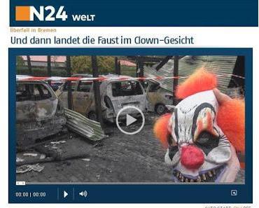 Polizei 2016: 'Liebe Horrorclowns, bitte bitte bitte...'