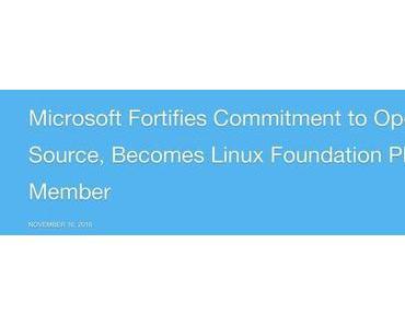 Microsoft wird Platinum Member der Linux Foundation