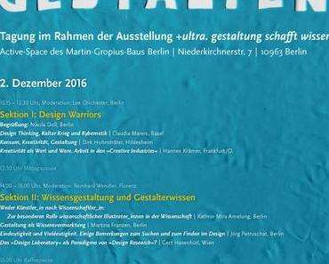 Wissen Gestalten – Tagung 2. Dezember Berlin