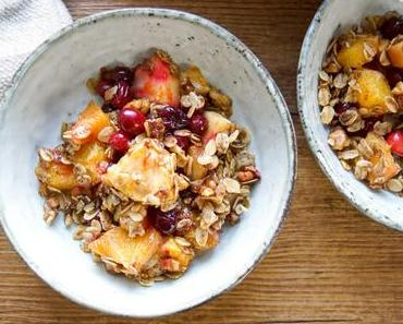 Cranberry Apfel Crisp mit Orange (Vegan + Glutenfrei)