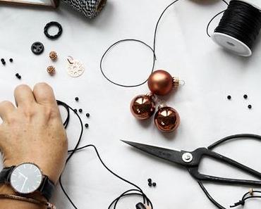 Lastminute Christmas-Tipp und DIY Armbänder Rosegold Schwarz