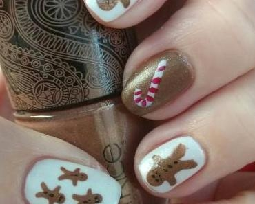 [Nails] Lebkuchenmännchen mit essence 01 THE FROSTED & CATRICE C01 Yes, You Tan!
