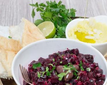 Skordalia und Panzaria Kritika – Kartoffeldip und Rote Bete Salat aus Kreta [enthält Werbung]