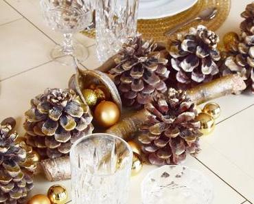 Golden Christmas - Tischdeko in Gold