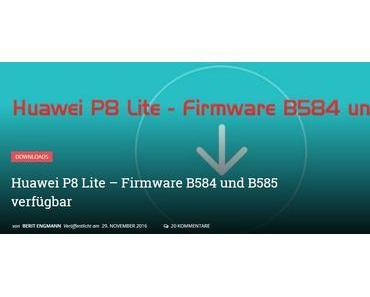 Update ALE L21 C432 B584 für Huawei P8 lite wird ausgerollt