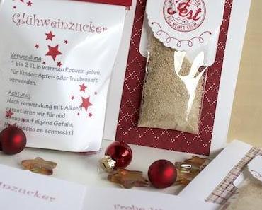 Last Minute Geschenk Glühweinzucker Prost