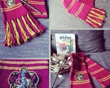 {Stricken} Hogwarts Haus-Schal DIY