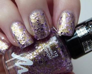 "[NOTD] Manhattan ""Sparkle Everyday"" Glitter Nail Polish Sylvester Nails"