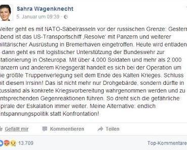 Vollpfosten des Tages: Sahra Wagenknecht
