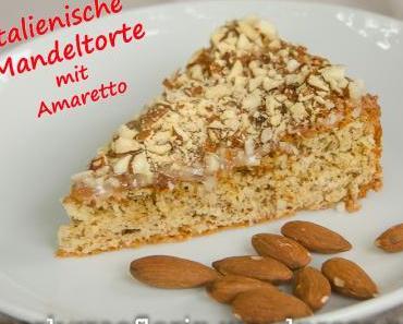 Italienische Mandeltorte mit Amaretto