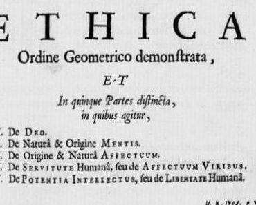 """Conatus in suo esse perseverandi.*  Über Spinozas """"Ethik"""""""