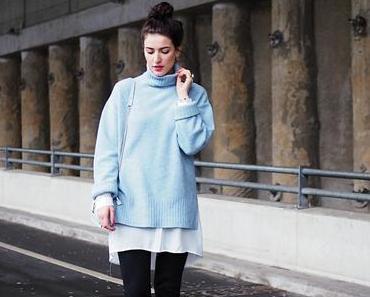 Blue Oversize Sweater