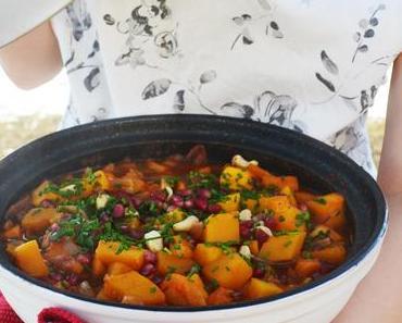 Orientalisch köstlich! Kürbis-Maronen-Tajine mit CousCous