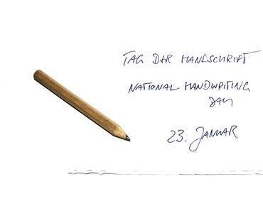 Tag der Handschrift – der amerikanische National Handwriting Day