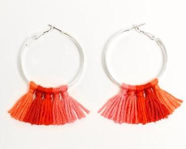 Quasten Ohrringe selber machen / Creolen mit Troddeln pimpen / DIY Tassel Hoop Earrings