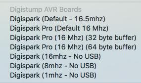 Digistump AVR Boards (Digispark) für die Arduino IDE ergänzen für ATTINY85 und Raspberry Pi