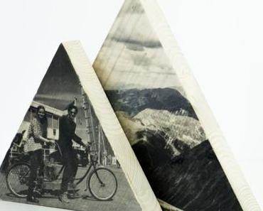 DIY Valentinstags-Geschenk: Dreieckiges Holzbild für den Frosch-Blog