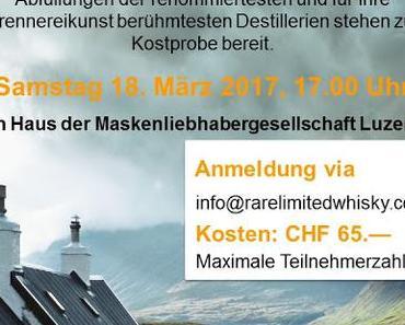 Schottische Ikonen - Frühlings-Whiskytasting am SA 18.3.2017 in Luzern