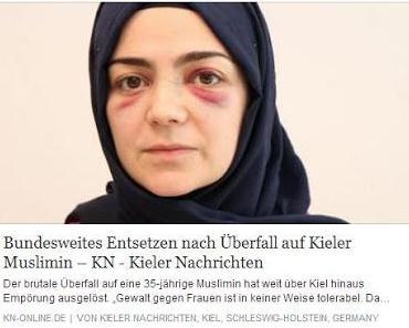Nach Aufschrei von Links: Kieler Muslimin wurde von Asylbewerber verprügelt