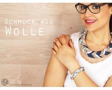 Strickliesel Schmuck: Armband zur Kette