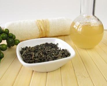 Eine selbst gemachte Körperseife mit grünem Tee