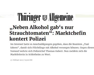 Thüringen: Polizei unternimmt Einkaufstour mit Asylanten zum Kauf von Alkohol