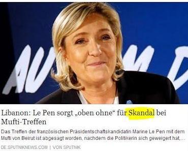 Spitzenpolitikerin Frankreichs verweigert sich im Libanon der religiösen Unterwerfung, Frauenverachtung und Intoleranz