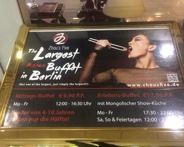 Zhou´s Five, zweites Asia Buffet in Berlin Friedrichshain