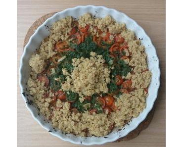 Quinoasalat mit gebackenen Tomaten