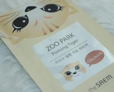 Kawaii Tuesday - The Seam ZOO PARK Firming Tiger Collagen Sheet Mask Tuchmaske Review