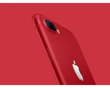 iPhone 7 und iPhone 7 Plus jetzt in rot erhältlich
