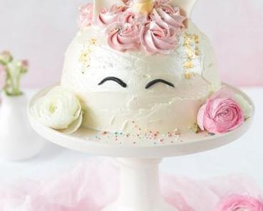 Einhorn-Torte *Zum Bloggeburtstag von Feines Handwerk*