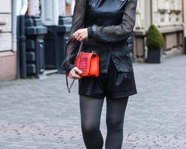 Outfit: Zara Leather Top with Lacing and Chanel Accessories