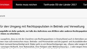 Faschismus links: Demokratiehasser DGB-Gewerkschaft ver.di AfD-Anhänger terrorisieren