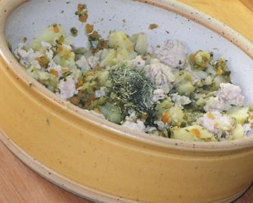 Pute mit Frühlingsgemüse und Kartoffeln