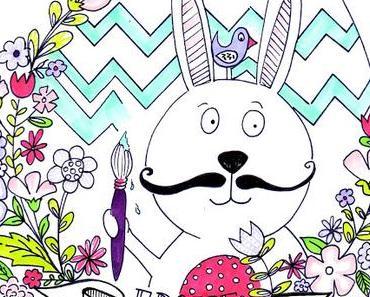 Frohe Ostern - kostenloses Ausmalbild