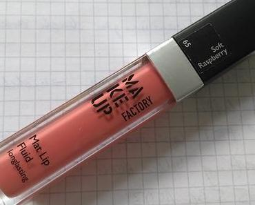Make Up Factory Mat Lip Fluid Longlasting 65 Soft Raspberry + Alterra Nagellack 01 Rose Blossom