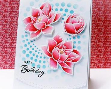 Happy Birthday Card | Waffle Flowers and Distress Oxide's Ink