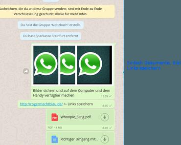 Whatsapp als privates Notizbuch nutzen