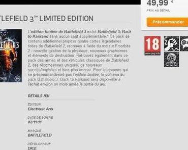 Battlefield 3: Release im November?