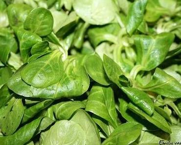 Feldsalat mit Pinienkernen