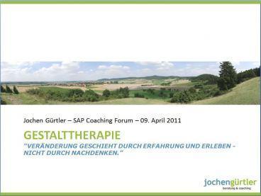 Vortrag über Gestalttherapie bei SAP