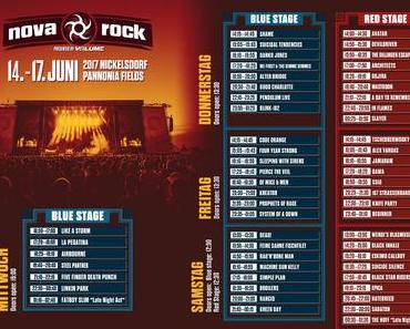 Nova Rock '17 Timetable