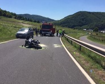 Schwerer Motorradunfall Bruttig-Fankel