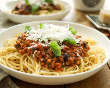 Pasta alla Puttanesca mit Linsen