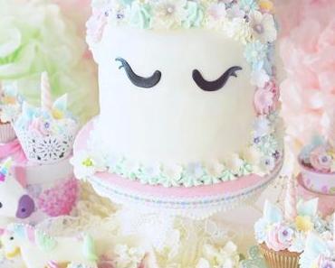 EINHORN PARTY mit Dr. Oetker - Pink Baileys Cake, Erdbeer Milkshake Cupcakes, Rainbow cookie dough Eis