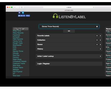 LISTENBYLABEL – Labelsuche für Spotify und Apple Music